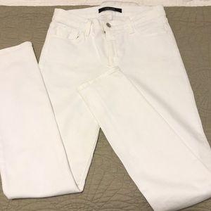 J Brand white skinny jeans